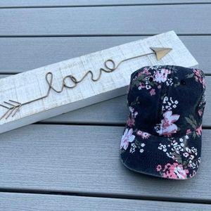 Cotton Floral Ladies Baseball Cap - Velcro Tab